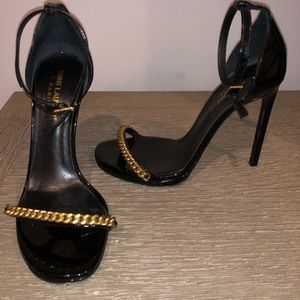 Saint Laurent Jane Gold Chain Sandal